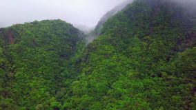 Clouds over hills at Taroko Gorge National Park in Taiwan. Aerial View. Shot with a DJI Mavic fps 29,97 4k stock footage
