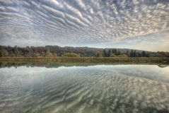 Clouds over Isar River Royalty Free Stock Image