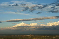 Clouds over Johannesburg skyline Stock Image
