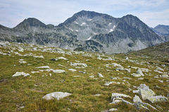 Clouds over Kamenitsa Peak, Pirin Mountain Royalty Free Stock Photography