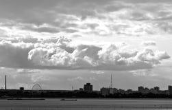 Clouds over Kazan, Tatarstan, Russia. Sunny and Cloudy Day in Tatarstan, Russia Royalty Free Stock Image