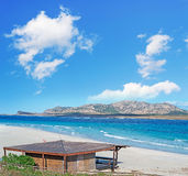 Clouds over La Pelosa beach Royalty Free Stock Photography