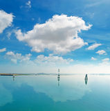 Clouds over the lagoon Royalty Free Stock Photography