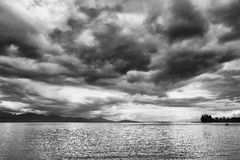 Clouds over Lake Geneva, Switzerland, Europe Royalty Free Stock Images