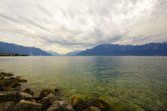 Clouds over lake Leman Stock Images