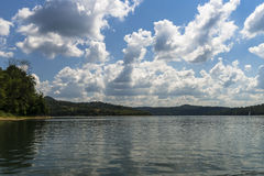 Clouds over lake Royalty Free Stock Photo