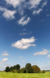 Clouds over land. Royalty Free Stock Images