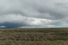 Clouds over landscape. In Southern New Mexico Royalty Free Stock Photography