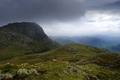 Clouds over the Langdales Royalty Free Stock Images