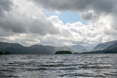 Clouds over large lake Royalty Free Stock Photography