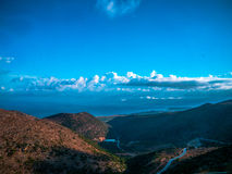 Clouds over the Lasithi valley Royalty Free Stock Photography