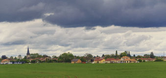 Clouds over the Luxembourg village Stock Photography