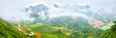 Clouds over Ma Phuc Pass Cao Bang, Viet Nam Royalty Free Stock Image