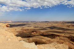 Clouds Over Makhtesh Ramon Crater Royalty Free Stock Photos