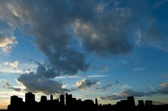 Clouds over Manhattan skyline Stock Image