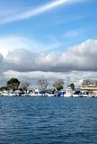 Clouds Over The Marina. Summer Clouds over Huntington Harbor Marina Royalty Free Stock Photos