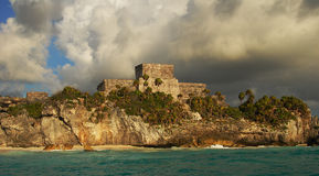 Clouds over Mayan ruins Royalty Free Stock Photography