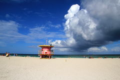 Clouds over Miami Beach Royalty Free Stock Images