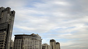 Clouds over a Modern City stock video footage