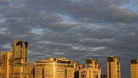 Clouds over a Modern City stock footage