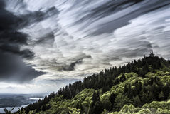 Clouds over mount Campo dei Fiori - Varese Stock Photography
