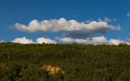 Clouds over Mount of Oaks Stock Photography