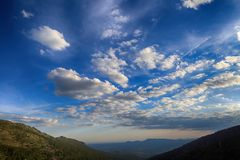 Clouds over a mountain valley Royalty Free Stock Image