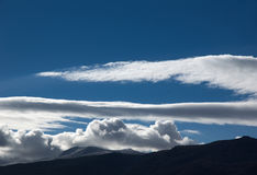 Clouds over mountain Stock Photography
