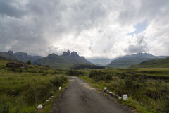 Clouds over the mountains. Drakensberg, South Africa Stock Photo