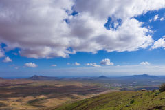 Clouds over mountains in Fuerteventura Canary Islands Spain Royalty Free Stock Images
