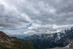 Clouds over the mountains. royalty free stock photo