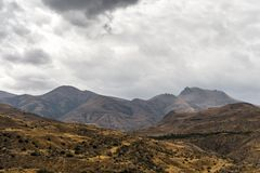 Clouds over the mountains and hills of Armenia Stock Image