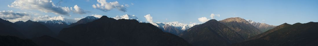Clouds over the mountains, Himalayas, Uttarakhand, India Stock Photo
