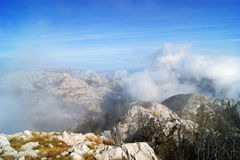 Clouds. Over the mountains (Orjen, Montenegro Stock Images