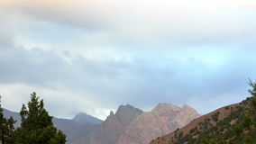 Clouds over the mountains. Pamir, Tajikistan. 4K Royalty Free Stock Photography