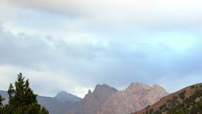 Clouds over the mountains, panorama. Pamir, Tajik. Istan. Video. UltraHD (4K stock footage