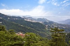Clouds over mountains, Shimla, Himachal Pradesh, India Royalty Free Stock Image