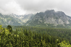 Clouds over the mountains of Tatra Royalty Free Stock Images
