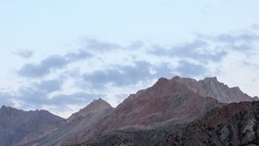 Clouds over mountains. Time Lapse. Pamir, Tajikis stock footage