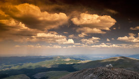 Clouds over MT Evens Colorado and Observatory Royalty Free Stock Photo