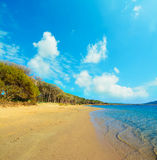 Clouds over Mugoni beach Royalty Free Stock Photo