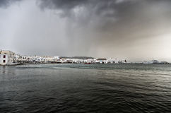 Clouds over Mykonos, Greece Royalty Free Stock Photography