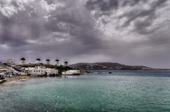 Clouds over Mykonos, Greece Stock Photography