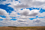Clouds over Nebraska farm Stock Image
