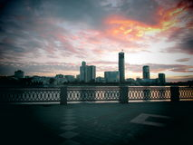 Clouds. Over night city Ekaterinburg Stock Photography