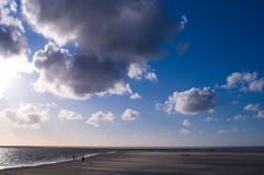 Clouds over the Northern Sea Royalty Free Stock Photo