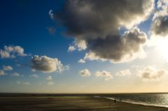 Clouds over the Northern Sea Stock Image