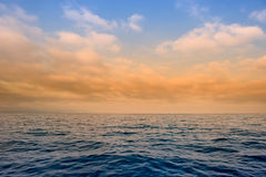 Clouds over the ocean Royalty Free Stock Image