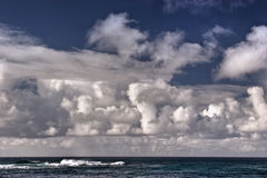 Clouds Over Ocean. Cloud covered ocean near Poipu, Kauai, Hawaii Stock Photo