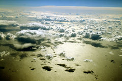 Clouds Over The Ocean. Clouds over the atlantic ocean with shadows on the water royalty free stock photo